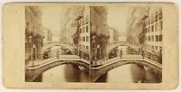 Venezia Ponti Pont Dei Sospiri Foto Stereo PL55L5n Vintage Albumina c1865