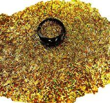 3ml Nail Art - Glitterfäden (0,2x4mm) Acryl Dose, Gold Hologramm, Nr. 808-026-a