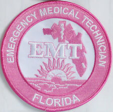"""Florida EMT Patch - PINK Breast Cancer Awareness - 4"""" - FREE SHIPPING"""