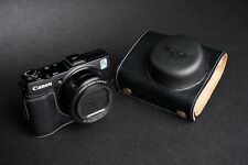 Genuine real Leather Full Camera Case bag cover for Canon G1X Mark II M2 Black