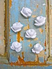 SHABBY& CHIC BABY ROSES (12PC)  * FURNITURE APPLIQUES !  MOULDINGS ONLAYS CRAFTS