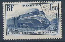 CO - TIMBRE DE FRANCE N° 340 oblitéré