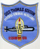 USS Thomas Edison SSBN 610 - 3 inch BC Patch Cat No C5886