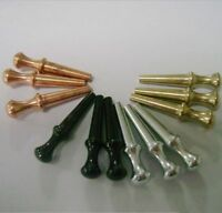 Set Of 12Pcs Metal Cribbage Board Pegs Black Silver Brass Copper For 1/8 Hole