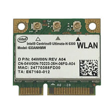 Intel 6300 half Mini PCI-E 633ANHMW 450Mbps Wlan Dell Toshiba, Acer, Fujitsu
