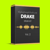 Drake DRUM KIT Vol. 2 Hip Hop SAMPLE PACK TRAP 808 Wav FL Studio, Ableton, Logic
