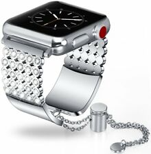 Apple Watch Jewelry Band 38mm Stainless Steel Bracelet Strap iWatch Series 3 2 1