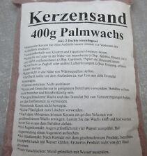 Kerzensand Palmwachs 400 gr. incl. 2 Dochte für jedes Gefäß grau