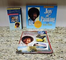 Collectible 1991 BOB ROSS - THE JOY OF PAINTING VHS & Book Set