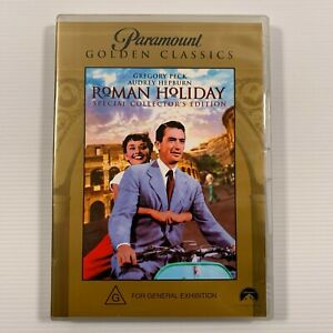Roman Holiday (DVD) 1953 film Audrey Hepburn Gregory Peck Region 4