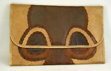 "Vintage Carlos Falchi Snake and Lizzard Skin Large Clutch 8.5 x 13.5"" Italy"