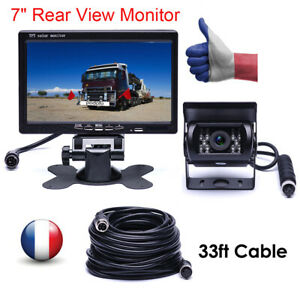 Cam/éra de Voiture avec Filaire IR Vision 7/'/' LCD HD Moniteur Vision Nocturne pour Camion//Bus//RV Etanche IP69 Cam/éra de Recul Cam/éra de Recul Kit Syst/ème