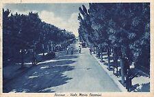 9495) RICCIONE (RIMINI) VIALE CECCARINI BICICLETTE E PASSANTI VG NEL 1943.