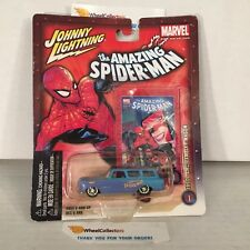 1960s AMC Rambler Wagon * BLUE * Spider-Man * Marvel Johnny Lightning * NA22