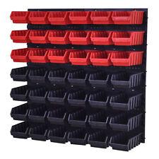 Stapelboxen Wandregal Box Schüttenregal Sichtlagerkästen Lagersystem 42 Boxen 2L