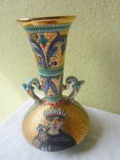 Vase Mosaïque DERUTA Vintage Signé GIALLETTI