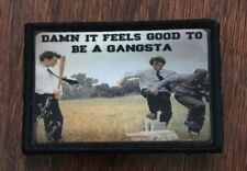 Office Space Gangsta Morale Patch Tactical Military Army Badge Flag Red stapler