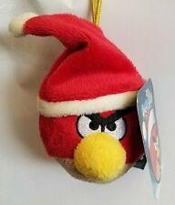 Kurt Adler Angry Birds Game Mini Plush Christmas Tree Ornament Red New Santa Hat