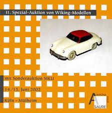 Auktionskatalog 11.Wiking-Auktion (mit SIKU-Auktion)