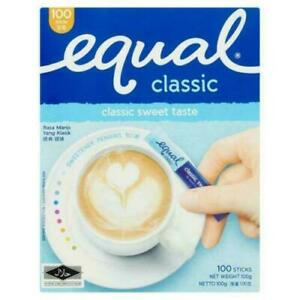 Equal Sweetener Classic Sweet Taste 100 Sticks 100g FREE SHIPPING