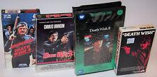 Vintage Charles Bronson Death Wish BETA Video Cassette Lot of 4 - Beatamax - 1-4