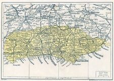 1923 map of England: old Sussex antique ready-mounted print SUPERB