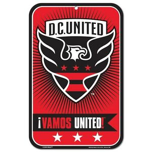 NEW Soccer D.C. United  Plastic 11x17 Sign by WinCrat.  Made in the USA