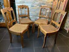 Ein Set Antik Biedermeier Stühle /Wiener Geflecht Kirschbaum