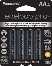 Panasonic BK-3HCCA4BA Eneloop Pro AA High Capacity Ni-MH Rechargeable Batteries