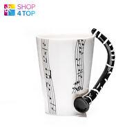 CLARINET HANDLE NOVELTY MUG CUP COFFEE TEA MUSIC INSTRUMENT NOTES CERAMIC GIFT