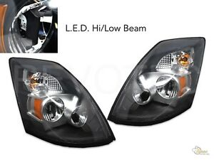 V2 6000K LED Headlights Head Lamps For 04-17 Volvo VNX VNL RH+LH