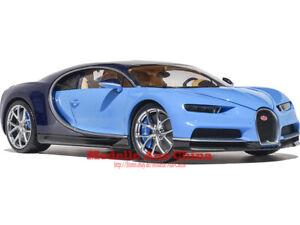 1:18 GTAutos 2016 Bugatti Chiron Französisch Rennen Blau/Atlantik Blau (FRB/AB)