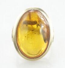 Edler Gold Ring 333er Gold Bernstein Gelbgold 8 Kt Edelstein 3,81 Gramm - Gr. 51