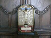 Rarität ca. 100 Jahre alter Hausaltar mit Reliquien Altar gemarkt S.W. um 1920