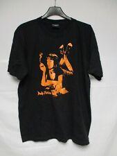 T-shirt PULP FICTION noir UMA THURMAN orange coton jersey L