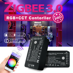 ZIGBEE Smart LED RGB+CCT Controller mit RF Fernbedienung kompatibel Alexa Google