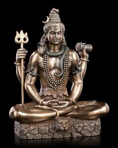 Hindu Gott Shiva Figur - sitzend bronziert - Veronese Statue Buddha