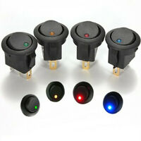 1X(12V LED Inverter Rocking Interruttore Rocker ROUND SPST ON-OFF per BARCA I1F1
