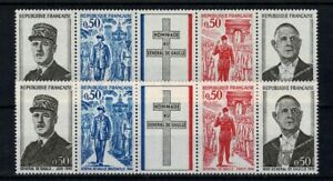 """FRANCE YVERT N° 1698A """" GENERAL DE GAULLE GOMME NORMALE + TROPICALE"""" NEUFxx LUXE"""