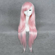 New Fashion Long Pink Straight Women's Lady's Cosplay Hair Wig Full Wigs + Cap