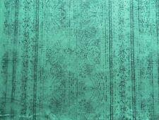 Harlequin Curtain / Upholstery Fabric Odisha Marine/ink Damask Stripe Velvet