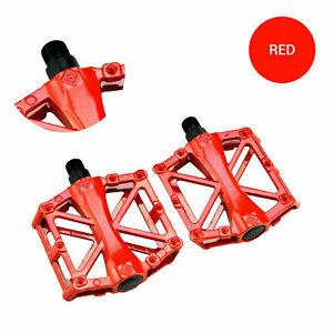 "Road Mountain Bike Pedals Flat Aluminum Sealed Bearing 9/16"" For MTB BMX"