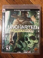 Uncharted: Drake's Fortune (Sony PlayStation 3, 2007) Complete Black Label