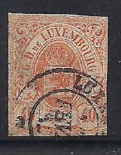 Luxembourg Stamps- Scott # 12/A3-40c-Canc/H-1859-64