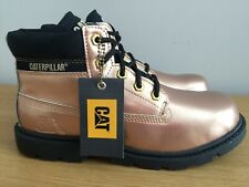 CATERPILLAR - SIZE UK5 - GOLD LEATHER BOOTS - BRAND NEW - COST £120