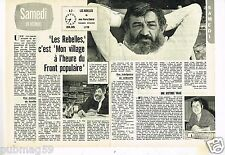 Coupure de presse Clipping 1977 (2 pages) Jean Pierre Chabrol