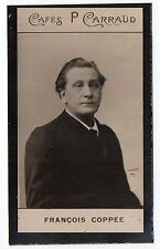 1900s French Trade Card Cafes P Carraud French Poet Novelist Francois Coppee