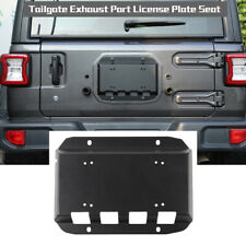 For Jeep Wrangler JK 2007-20 Tailgate Vent Cover License Plate Mounting Bracket