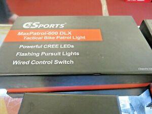 C3Sports MaxPatrol-600 DLX Police Bike Front Light & Taillight - Red/ Blue
