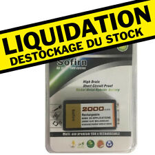 PILE BATTERIE RECHARGEABLE 9V 6F22 Ni-MH 2000Mah TRES PUISSANT
